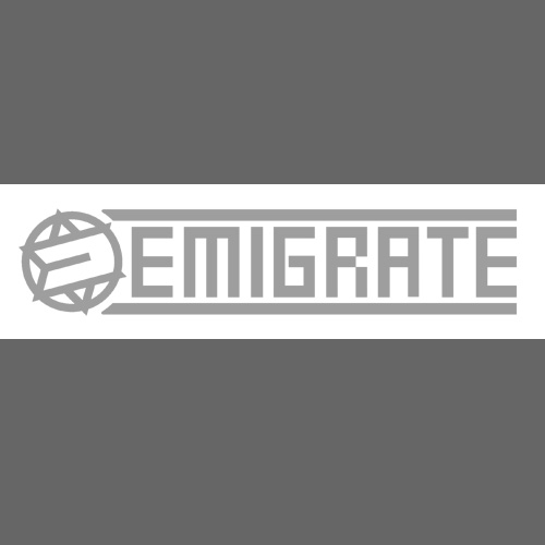 "Car Sticker ""EMIGRATE"" - silver (inside)"